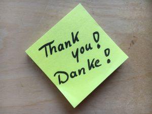 Ein Danke schafft Wertschätzung